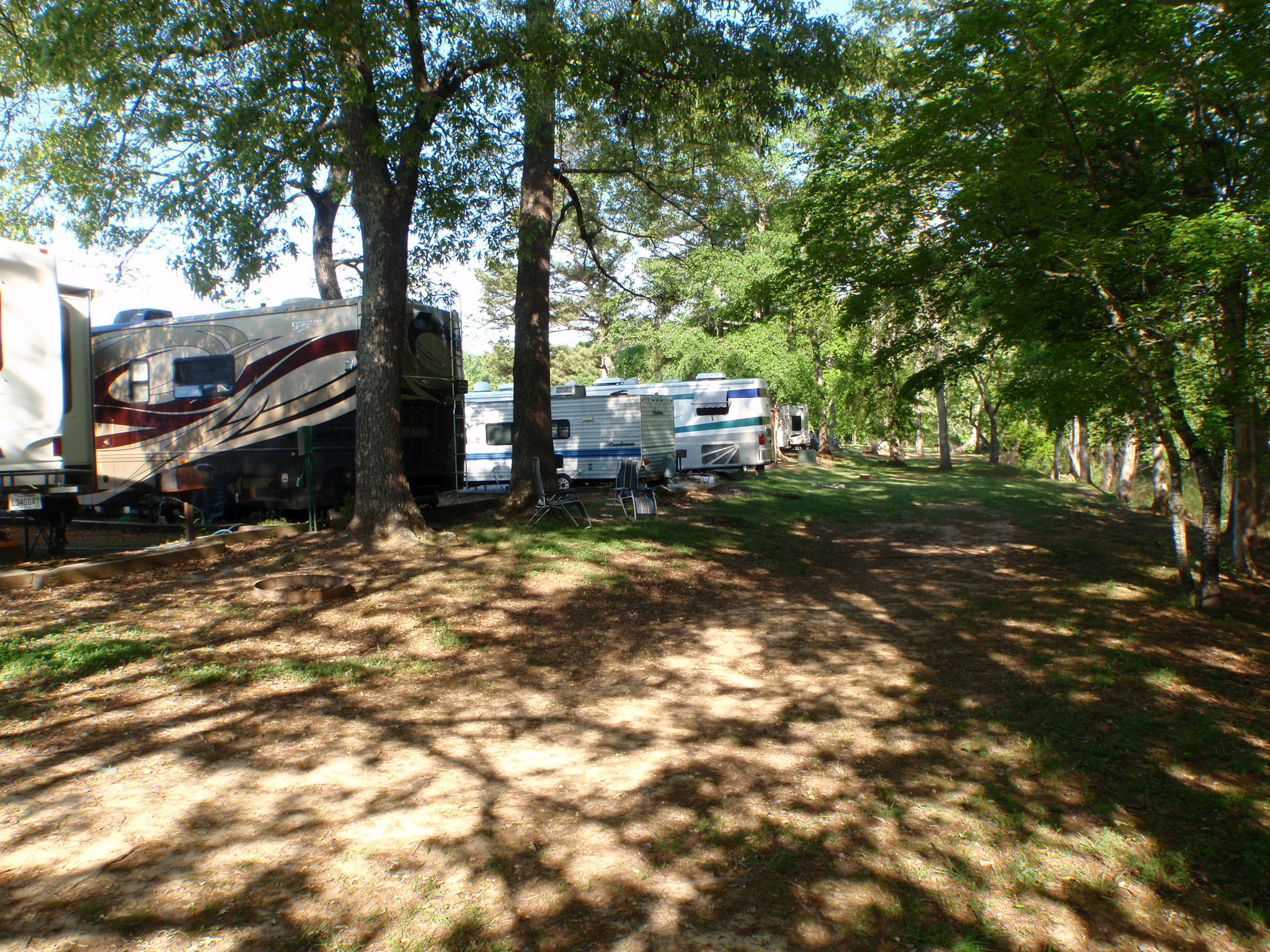 Shaded Creekside RV Sites